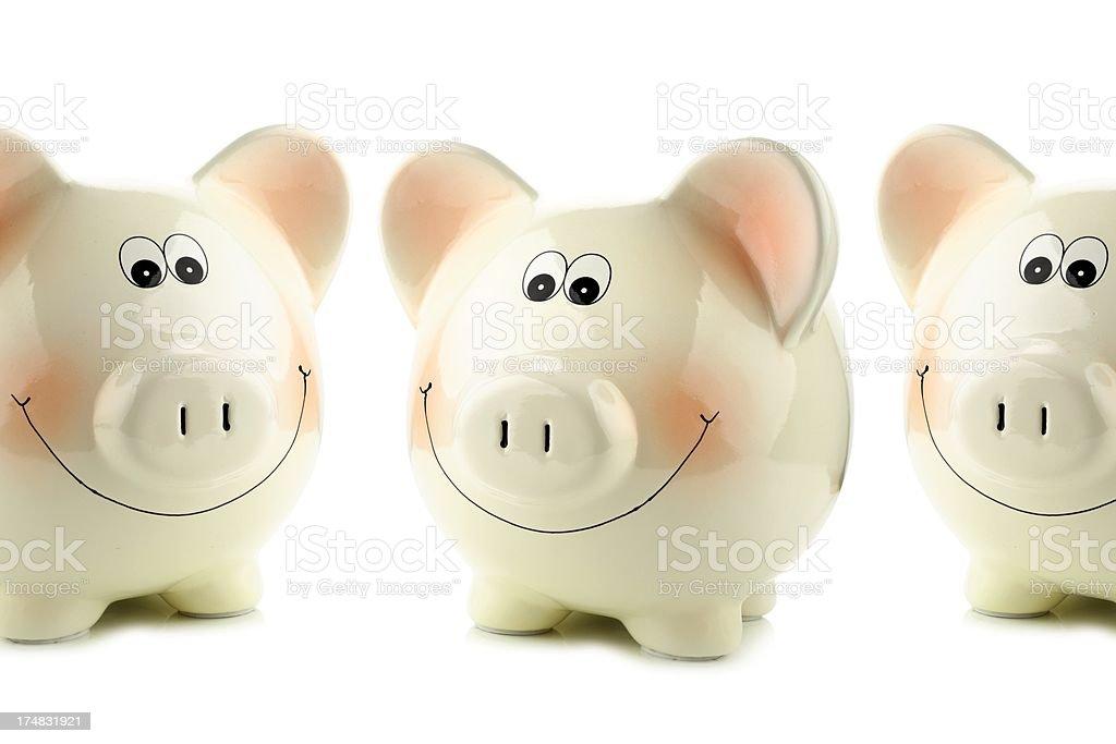 Piggy bank on white stock photo