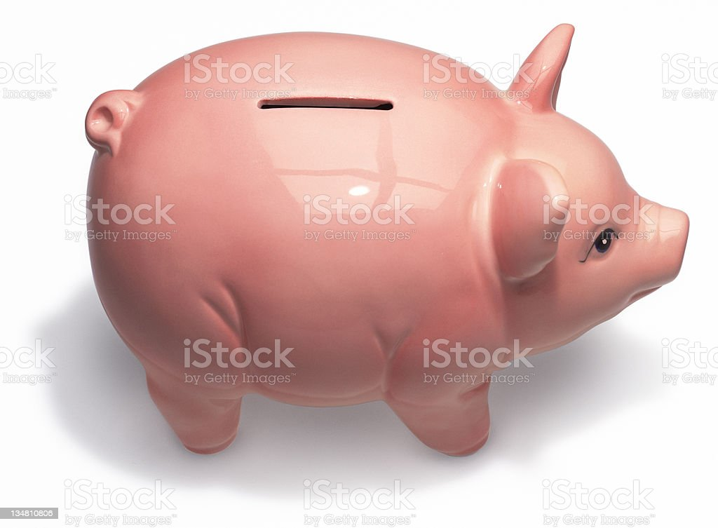 Piggy Bank (Isolated) royalty-free stock photo