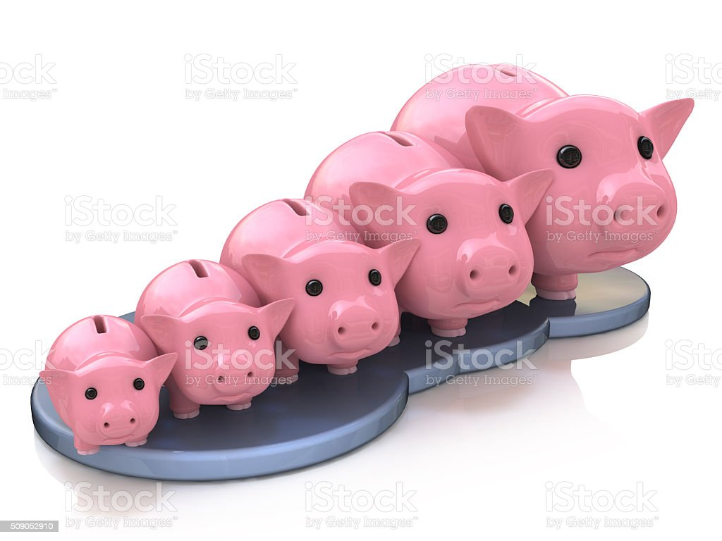 piggy bank profit stock photo
