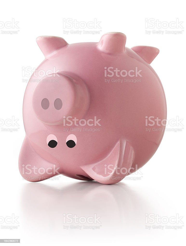 Piggy bank upside down royalty-free stock photo