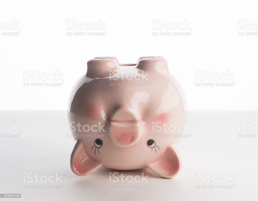 piggy bank upside down stock photo