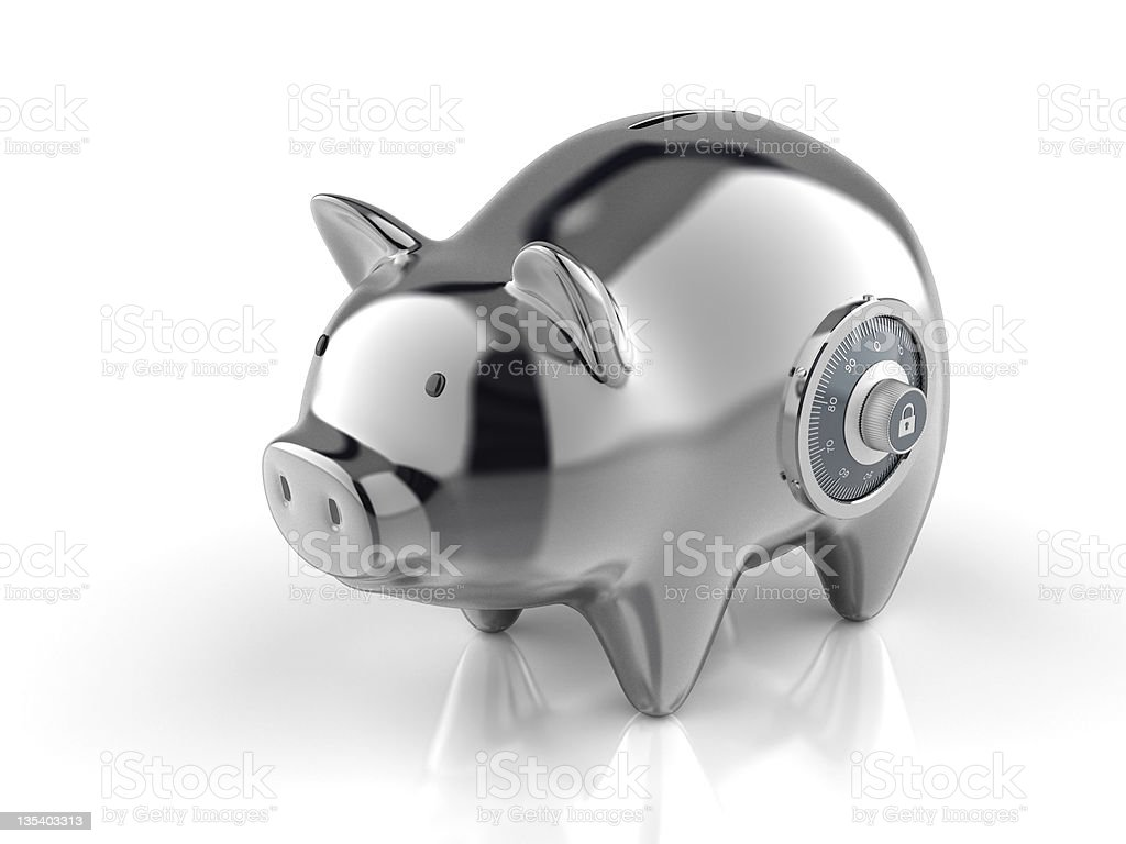 Piggy Bank with Lock royalty-free stock photo