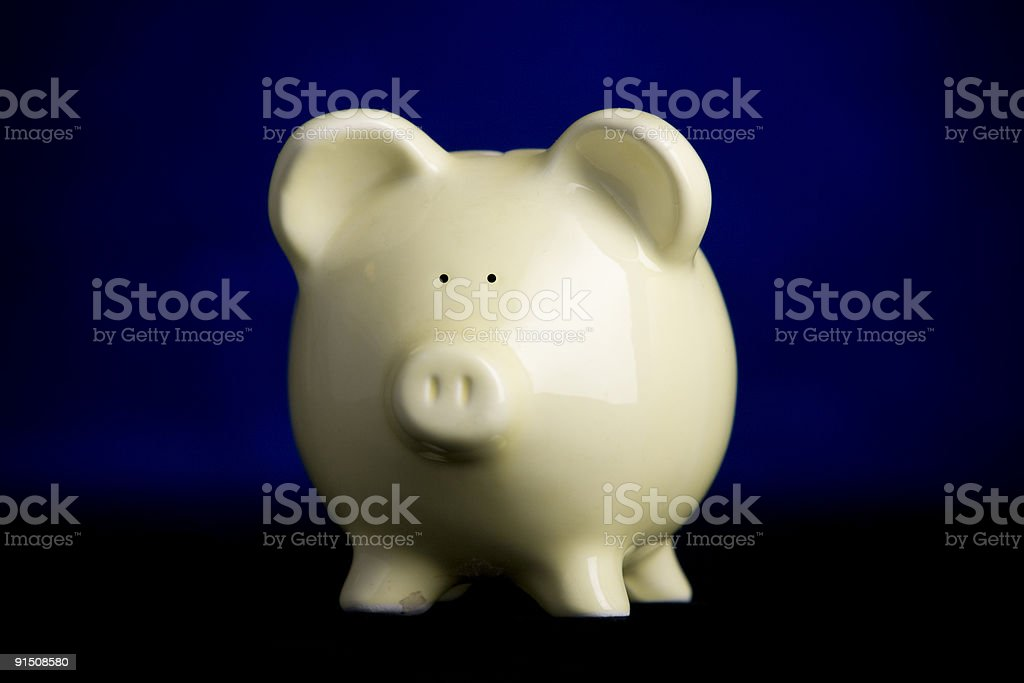 Piggy Bank with Rim-Light stock photo