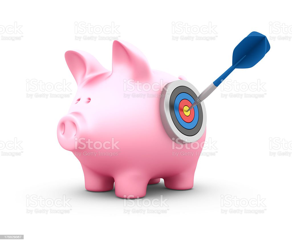 Piggy Bank with Target stock photo