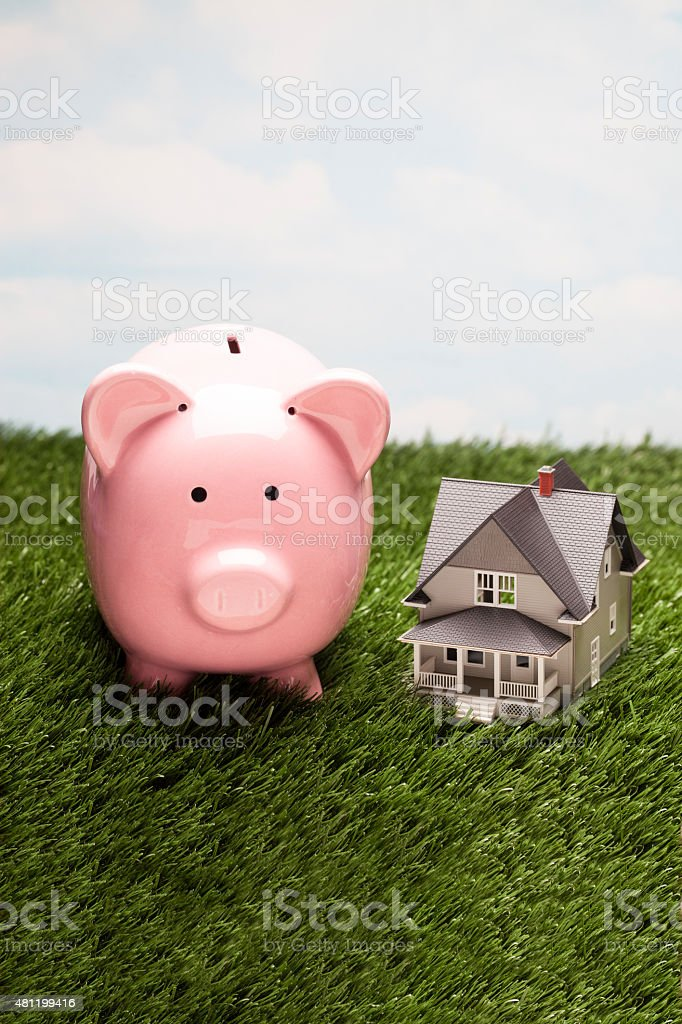 Piggy Banks & House stock photo