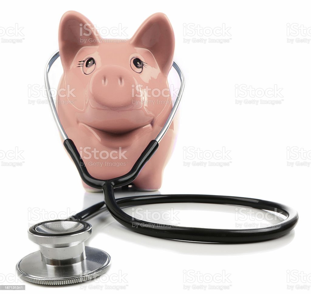 Piggy Checkup royalty-free stock photo