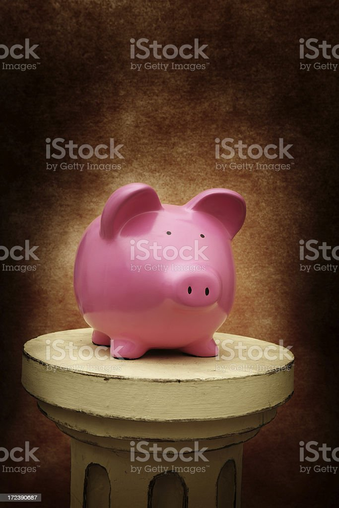 Piggy on a Pedistal royalty-free stock photo