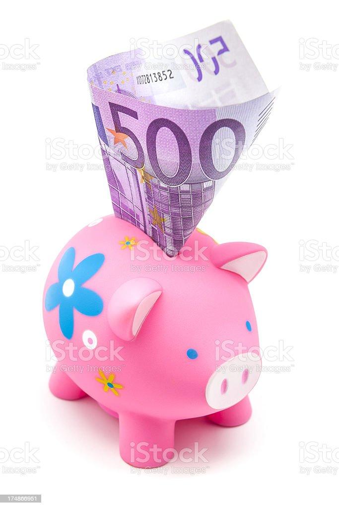 Piggy Pink Bank royalty-free stock photo