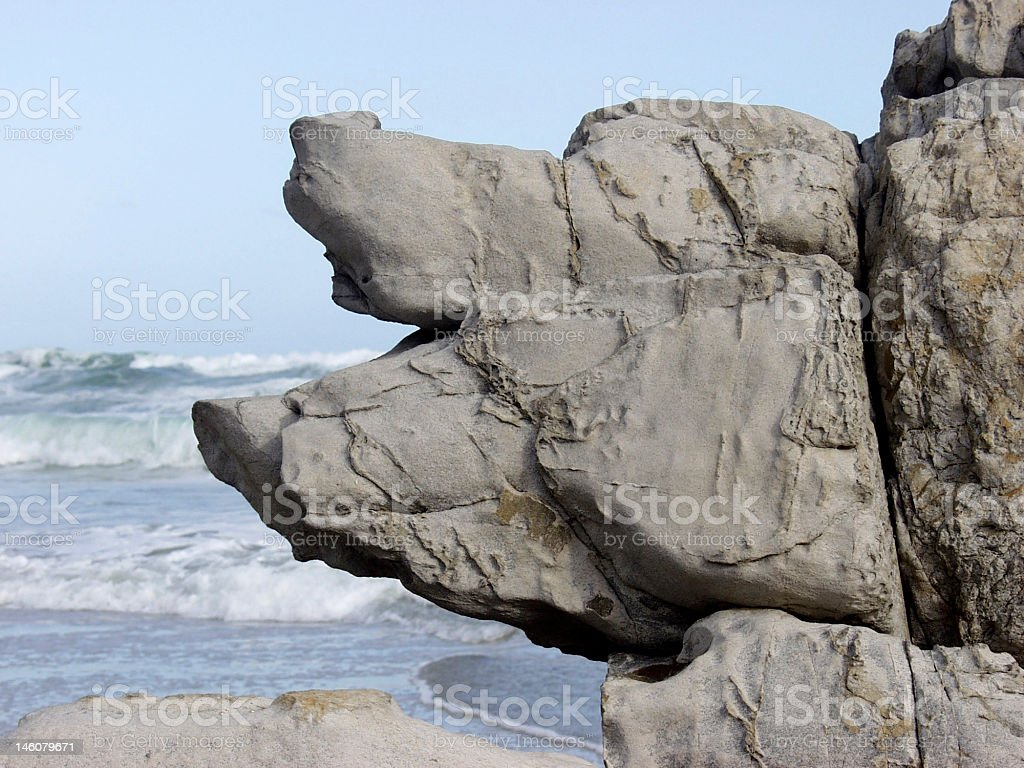 Piggy Rock face stock photo