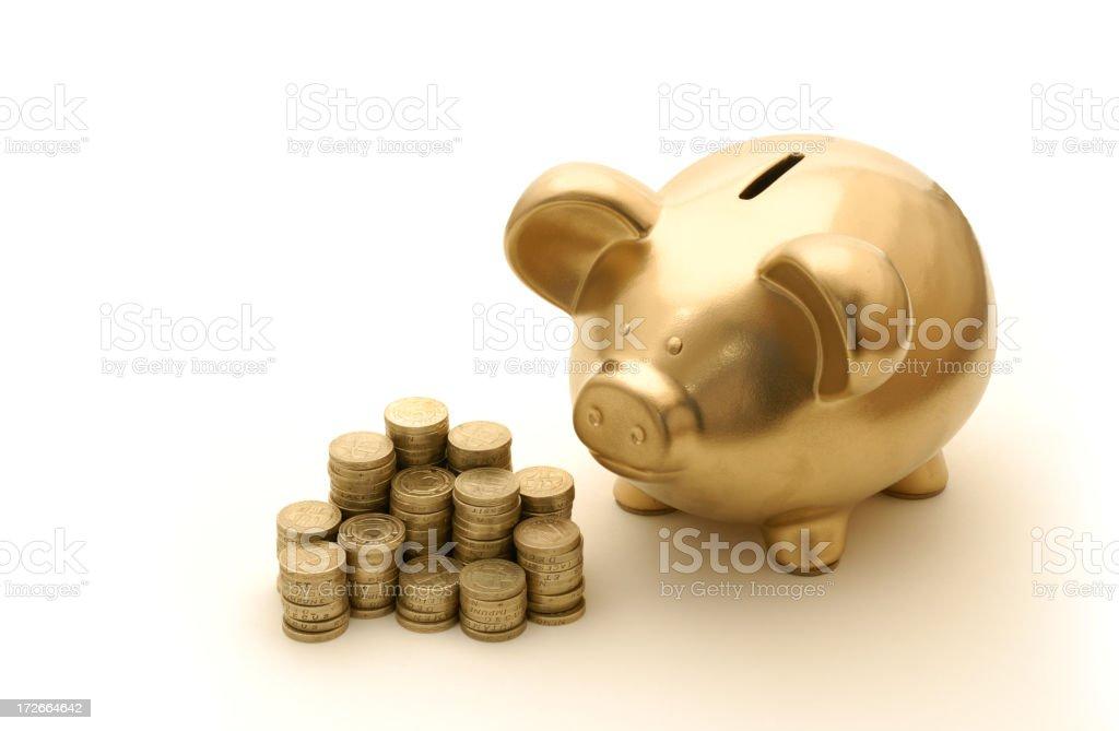 piggy watch royalty-free stock photo