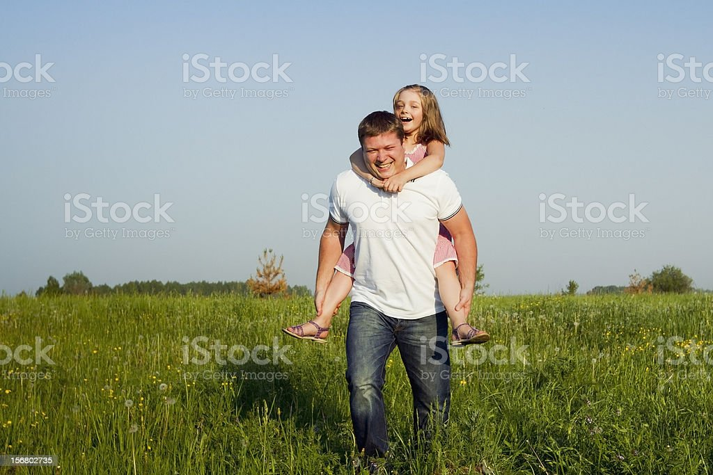 piggyback royalty-free stock photo