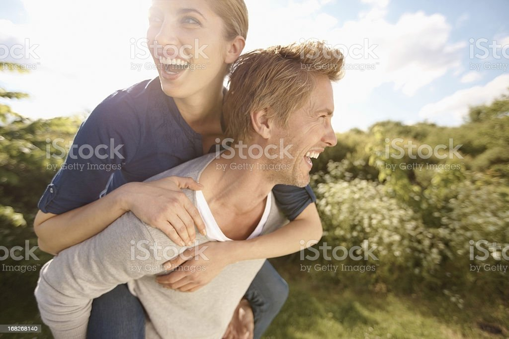 Piggyback ride royalty-free stock photo