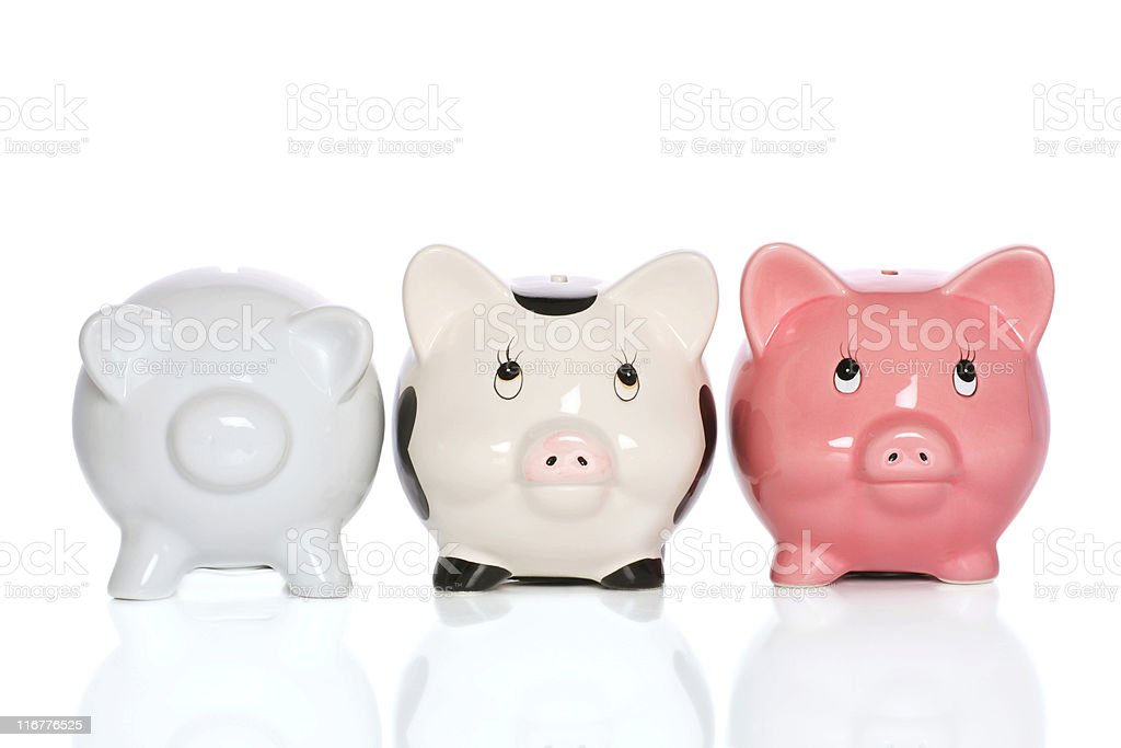 piggybank family stock photo