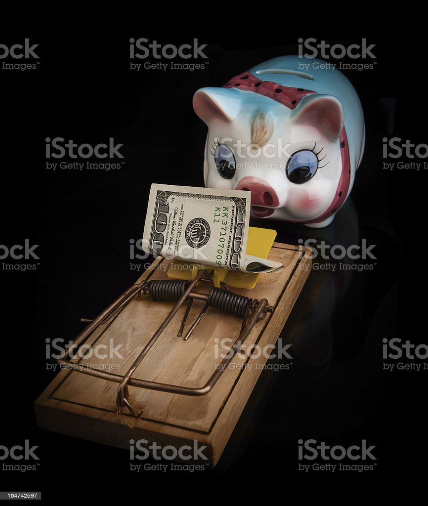 piggybank trap royalty-free stock photo