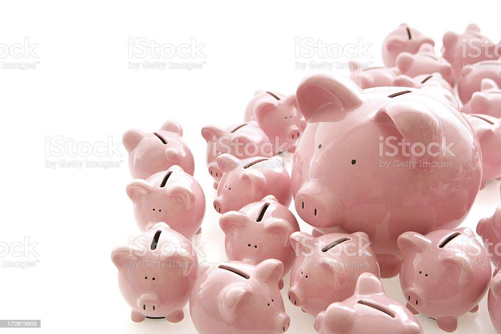 Piggybanks Corner royalty-free stock photo