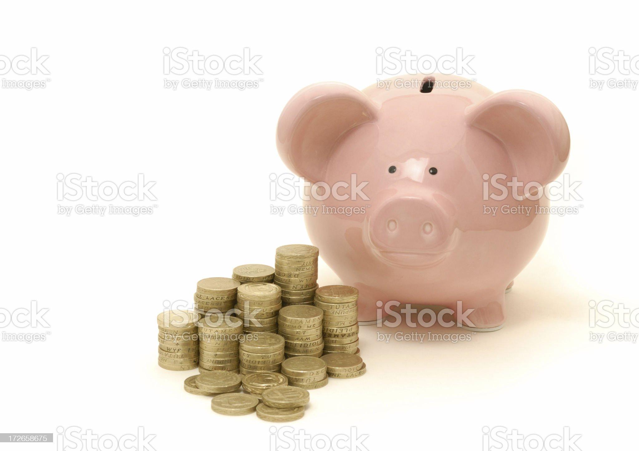 piggy's cash royalty-free stock photo