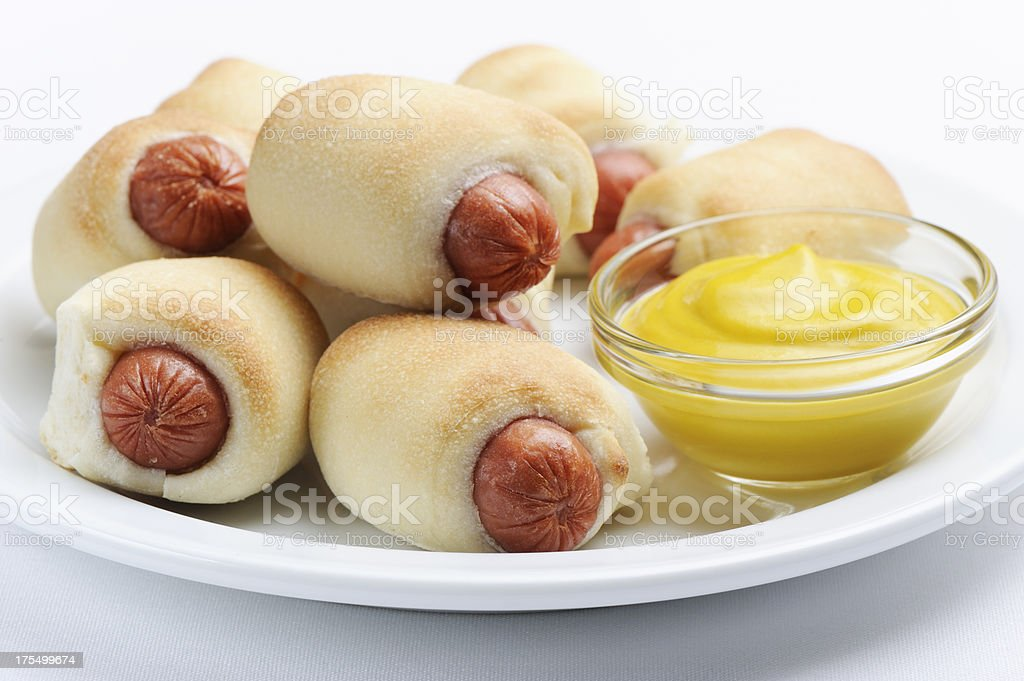Pigs in a blanket stock photo