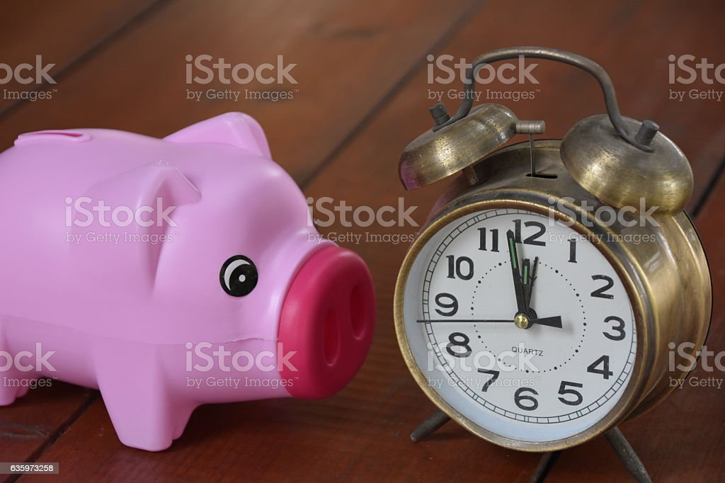 Pig-shaped piggy bank Opportunity stock photo