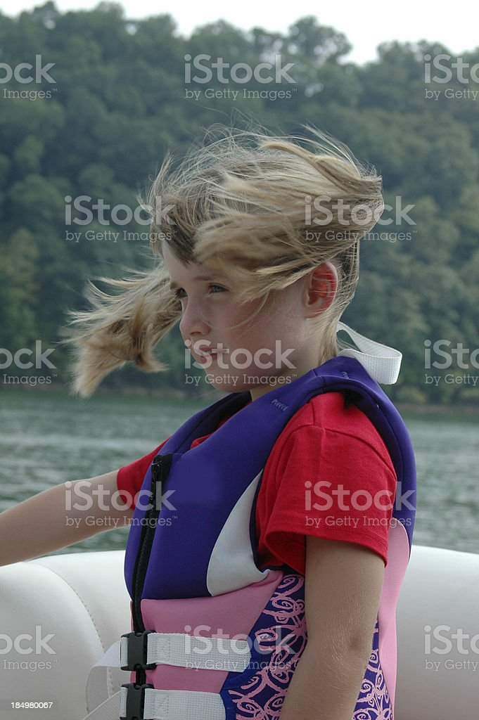 Pigtails Blowing stock photo