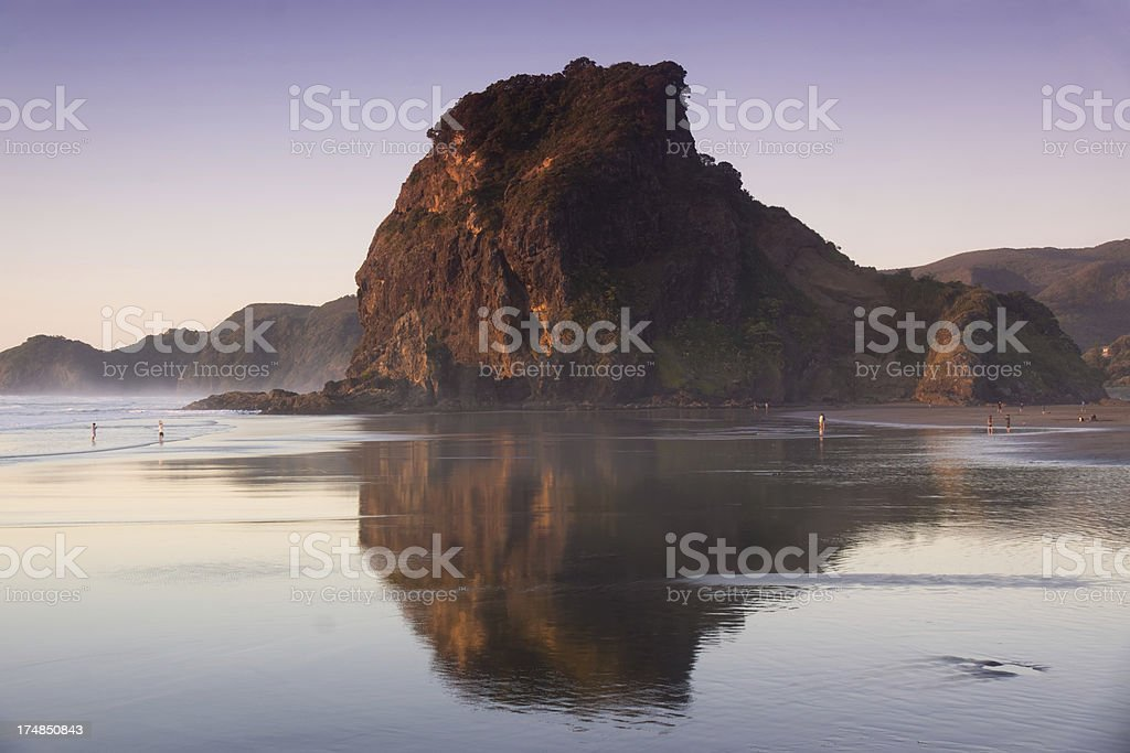 Piha Beach - Lion Rock stock photo
