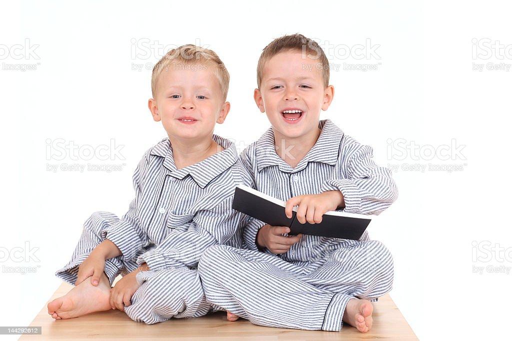 pijama boys stock photo