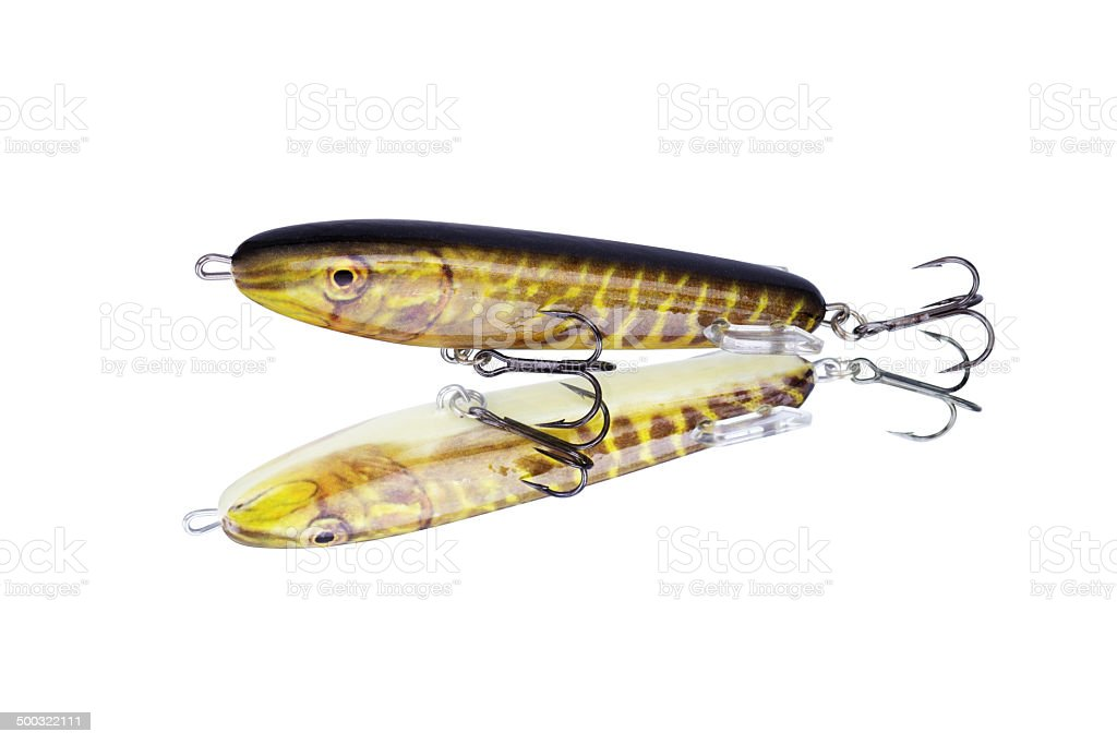 Pike fishing lure royalty-free stock photo