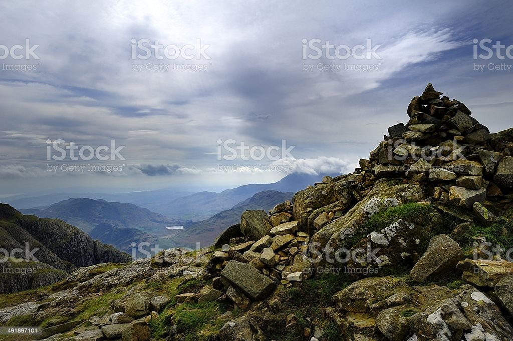 Pike of Stickle Summit stock photo