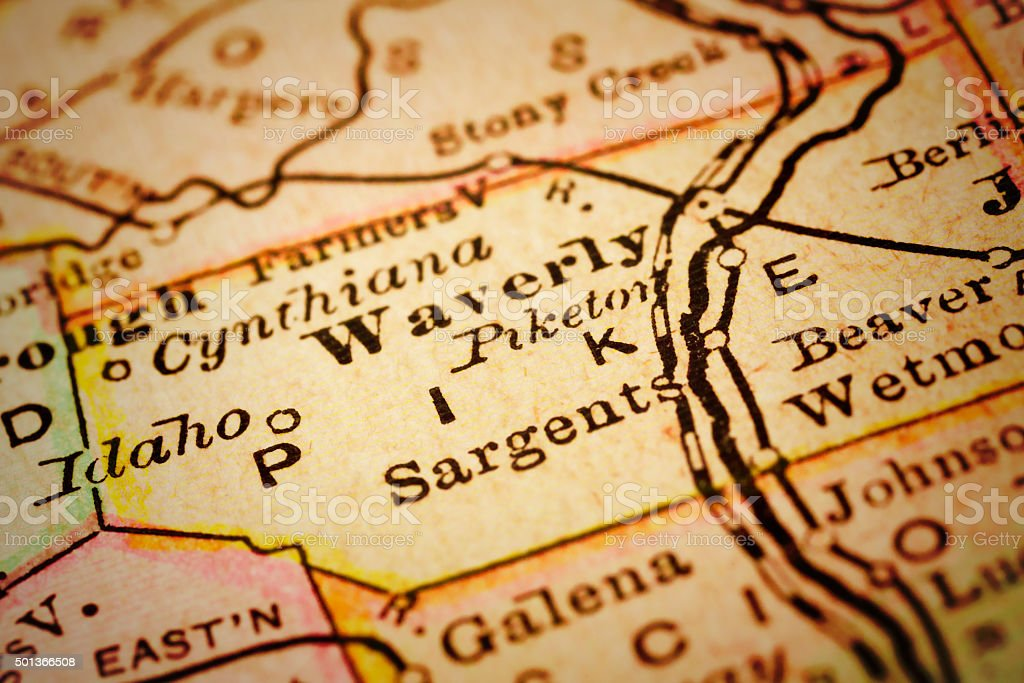 Pike | Ohio County Maps stock photo