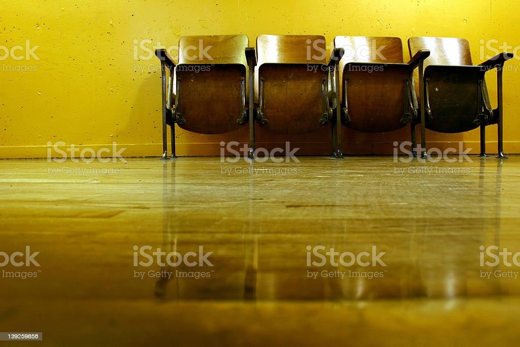 pike place chairs royalty-free stock photo