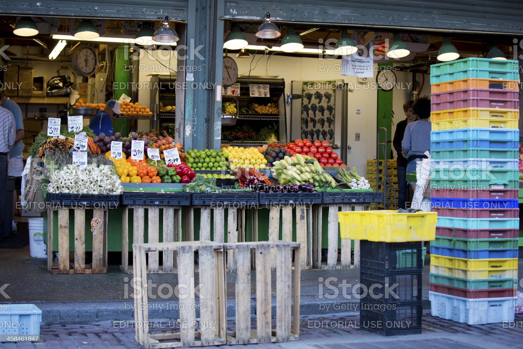 Pike Place Farmers Market, Seattle Opening Hours royalty-free stock photo