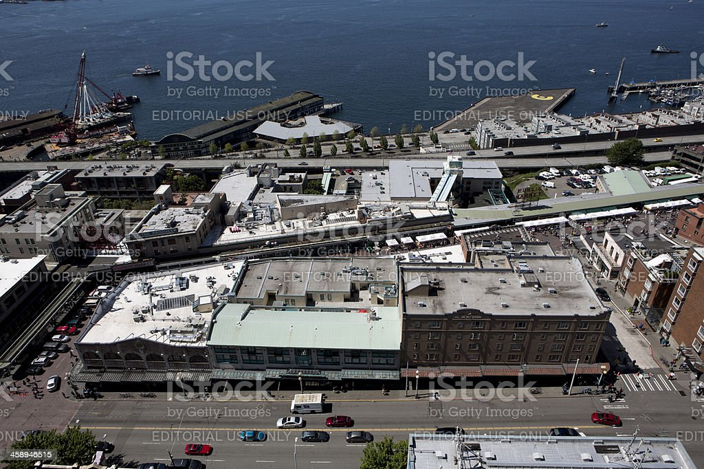 Pike Place Farmers Market, Seattle royalty-free stock photo