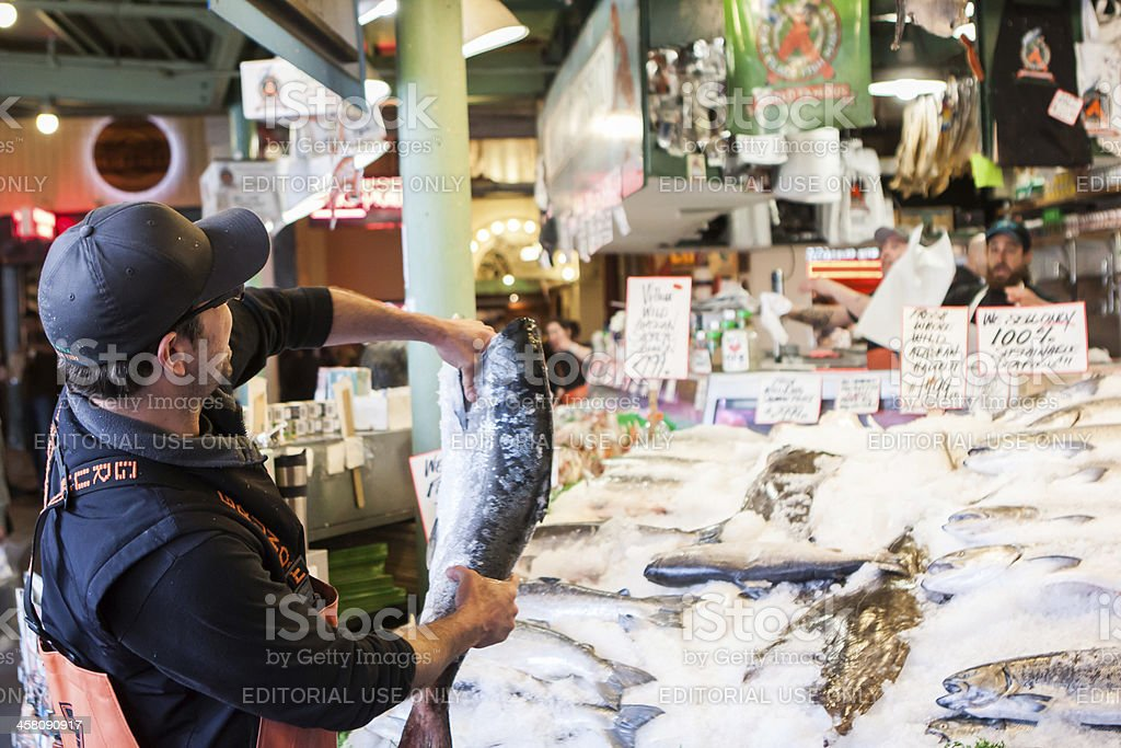 Pike Place Fish Market stock photo