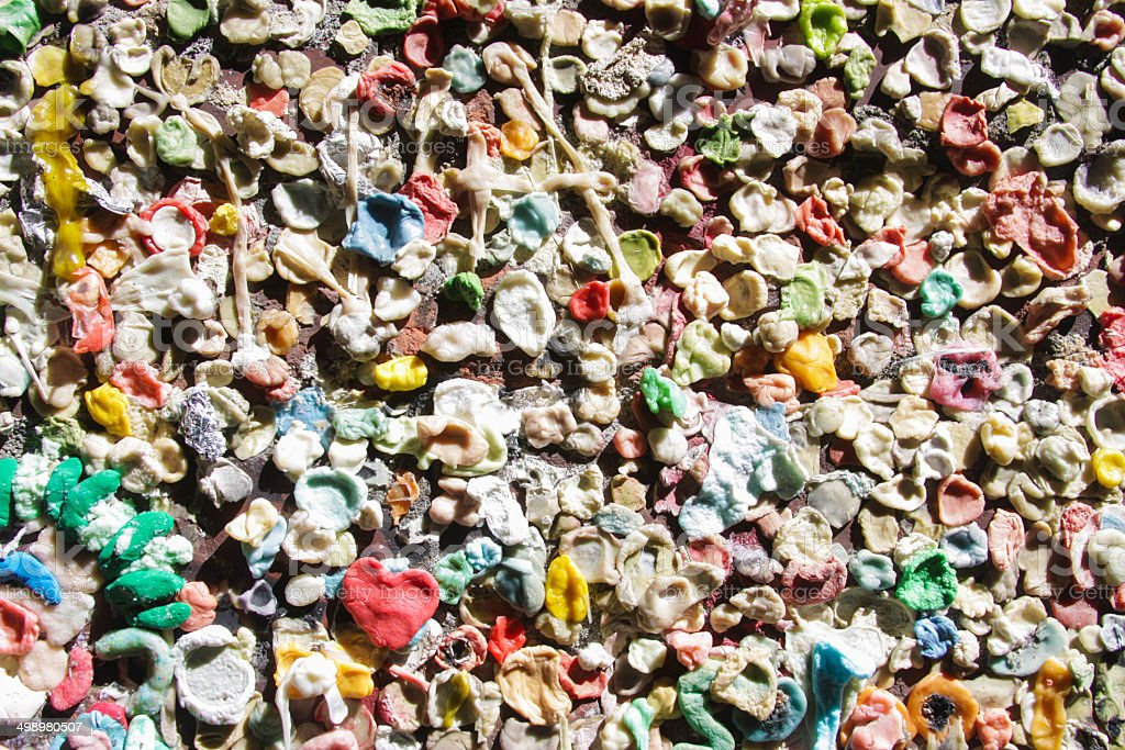 Pike Place Gum Wall stock photo