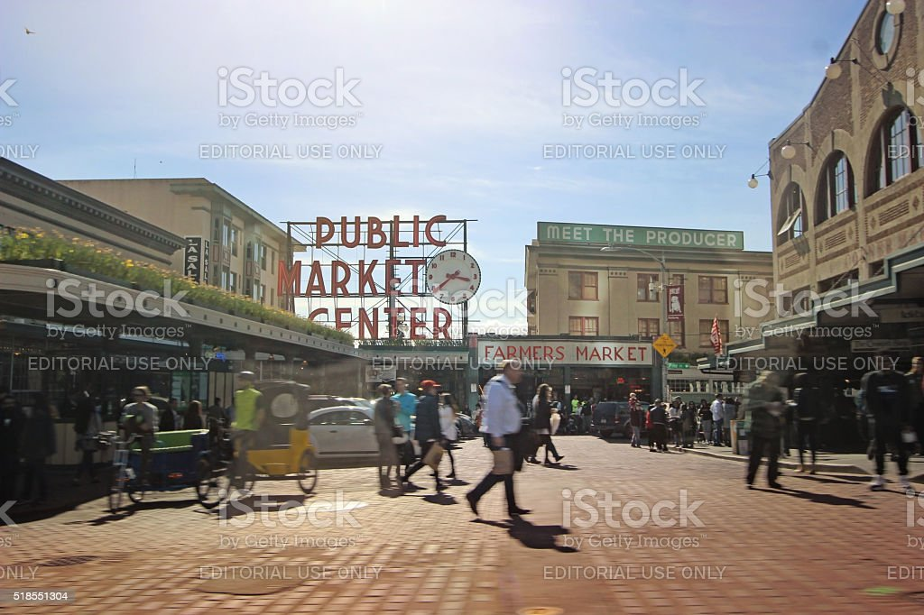 Pike Place Market -Seattle, Washington stock photo