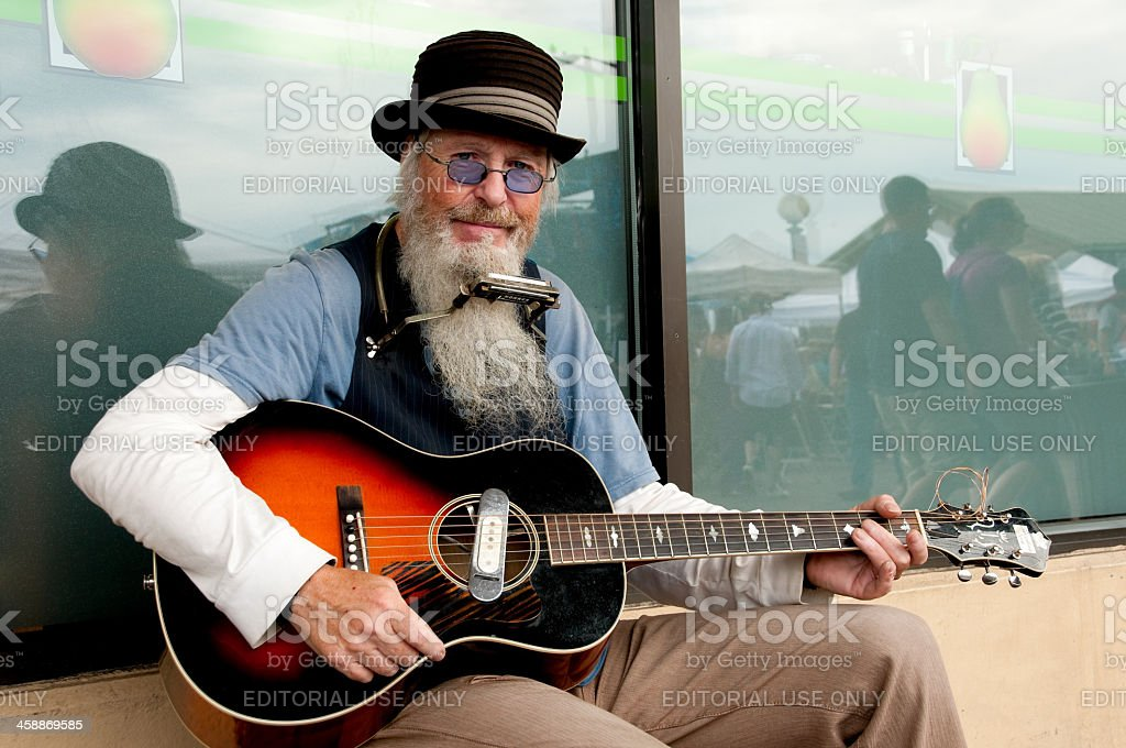 Pike Place Musician royalty-free stock photo