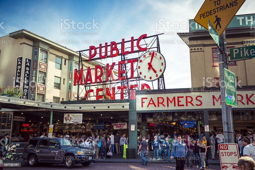 Pike Place - Public Market in Seattle stock photo