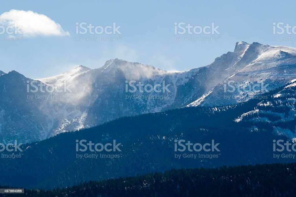 Pikes Peak After the Storm stock photo