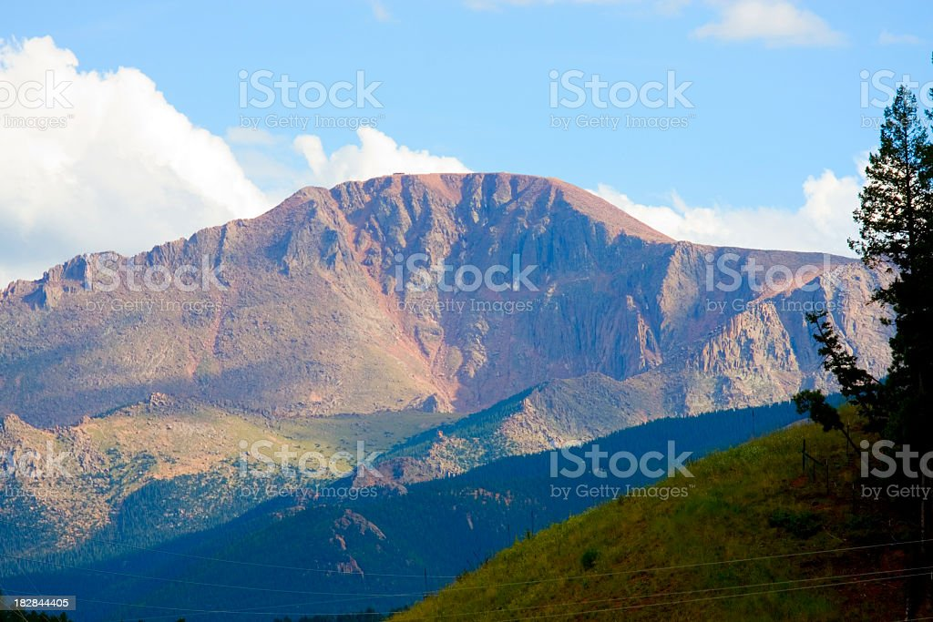 Pikes Peak Afternoon stock photo