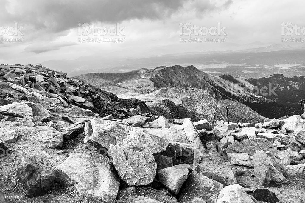 Pike's Peak, Colorado stock photo