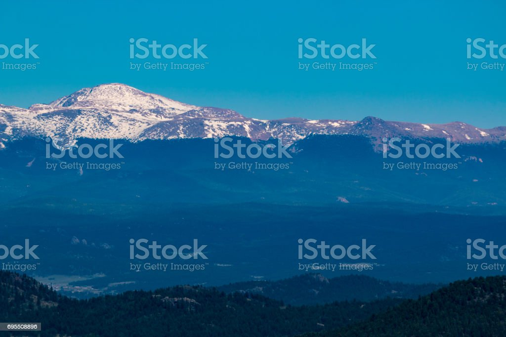 Pikes Peak from Wilkerson Pass stock photo