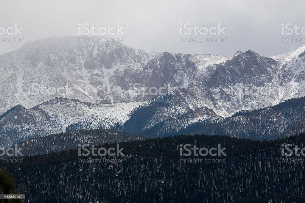 Pikes Peak Storm stock photo