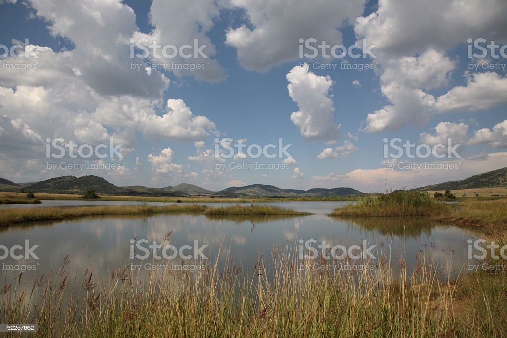 Pilanesberg National Park in South Africa stock photo