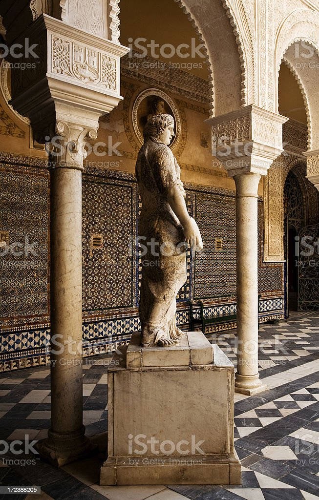 casa de pilatos patio royalty-free stock photo