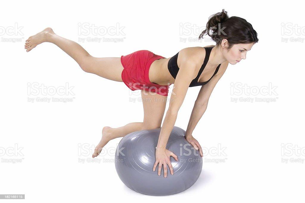 Pilates Balance royalty-free stock photo