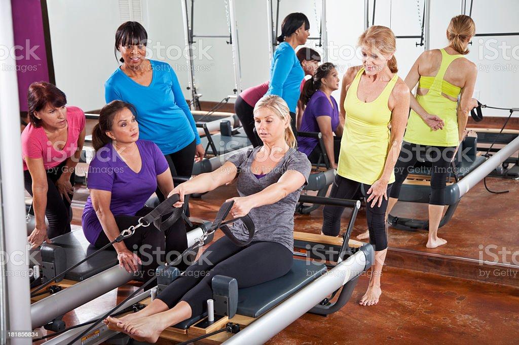 Pilates class stock photo