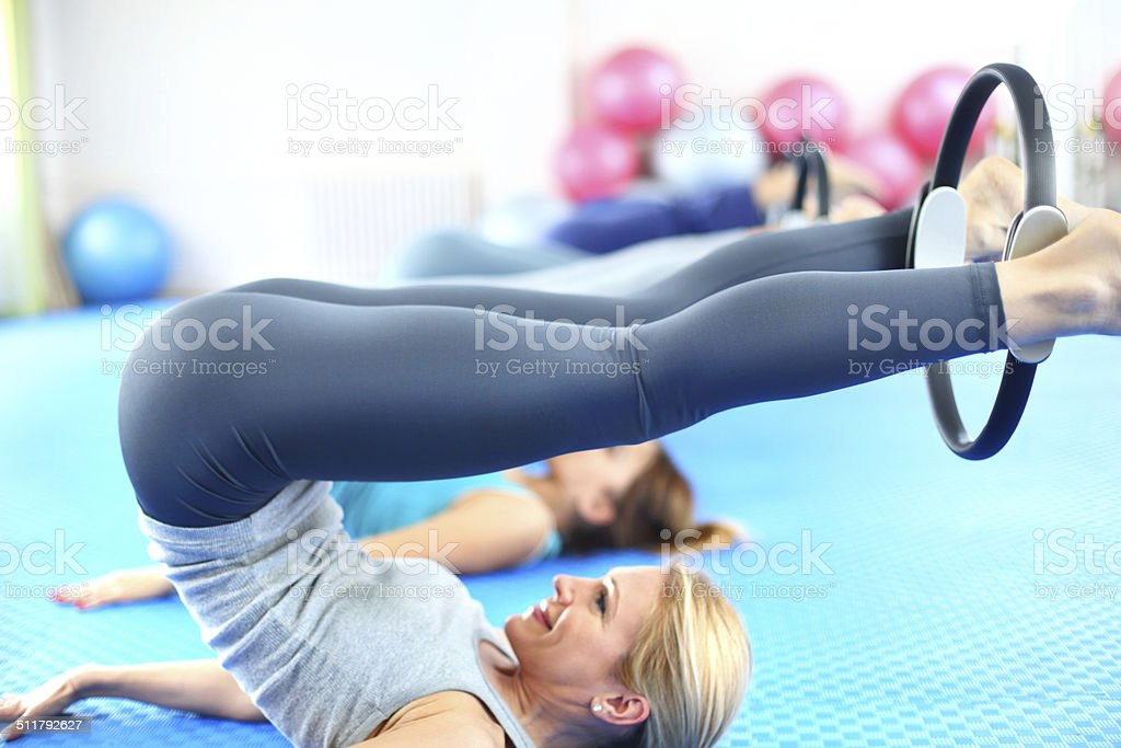 Pilates class. stock photo