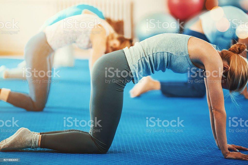 Pilates class. stock photo