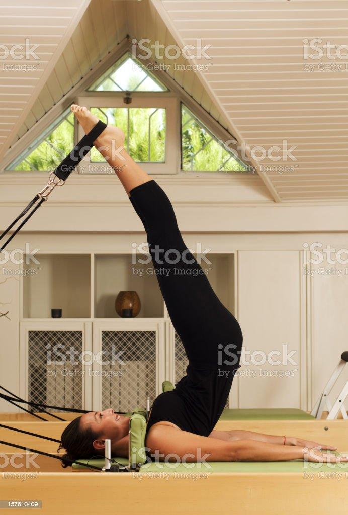 Pilates Exercise royalty-free stock photo