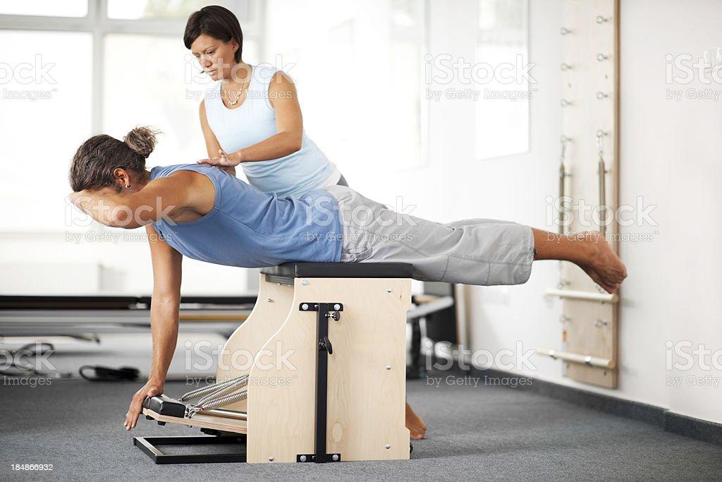 Pilates exercise. stock photo