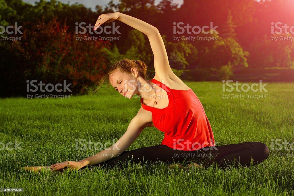 Exercice de Pilates photo libre de droits